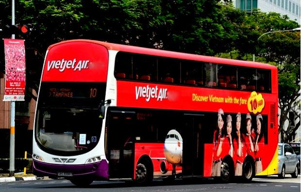 Dịch vụ minibus của Vietjet Air khi đi Hà Nội