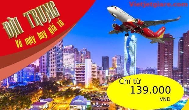 Vé máy bay đi Đài Trung Vietjet giá rẻ