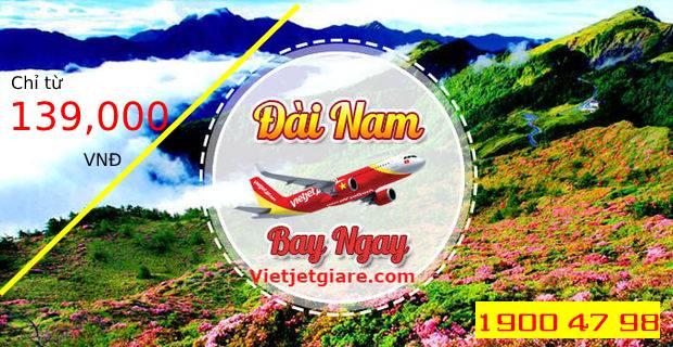Săn vé máy bay giá rẻ đi Đài Nam Vietjet