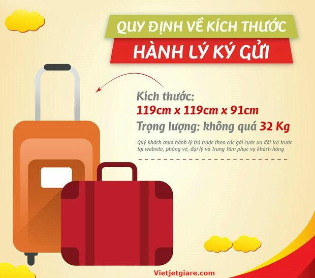 Quy định về hành lý kí gửi hãng Vietjet