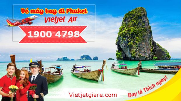 Vé máy bay đi Phuket Vietjet Air giá rẻ