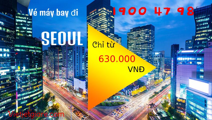 Vé máy bay đi Seoul Vietjet giá rẻ
