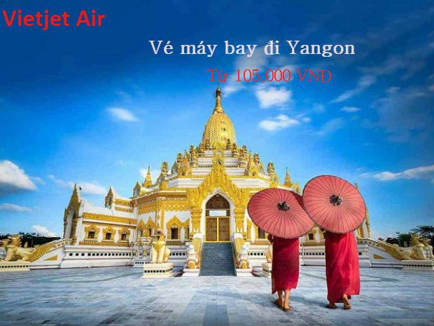 Vé máy bay Vietjet đi Yangon