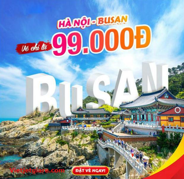 mua vé máy bay giá rẻ Vietjet đi Busan Hàn Quốc