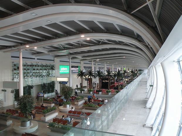 Một góc phòng chờ tại sân bay Gimhae - Busan hiện đại, sạch đẹp