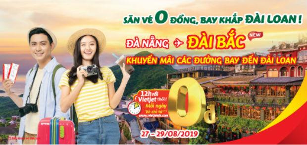 Hàng ngàn vé từ 0 đồng Vietjet bay khắp Đài Loan