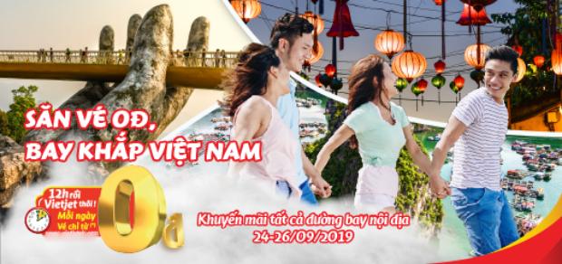 Đi đu đưa khắp Việt Nam cùng khuyến mãi Vietjet chỉ từ 0 đồng