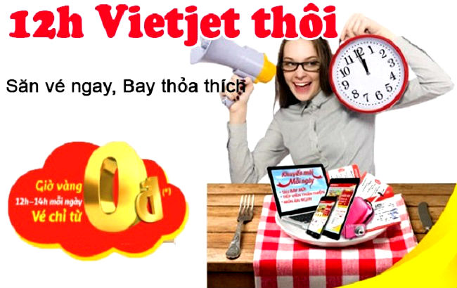 Săn vé máy bay giá rẻ Vietjet Air