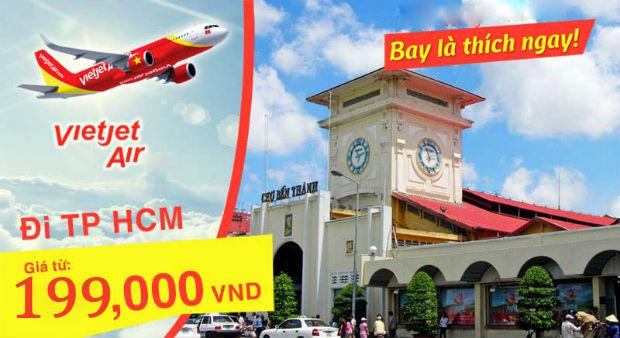 vé máy bay Phú Quốc đi TPHCM Vietjet giá rẻ