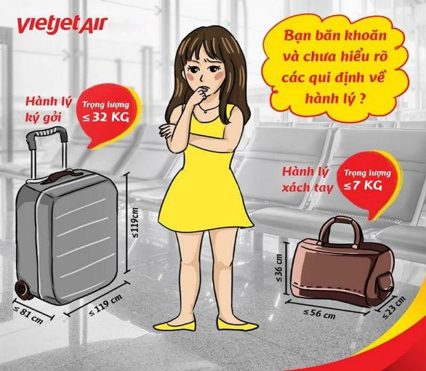 Quy định hành lý Vietjet Air giá rẻ mới nhất