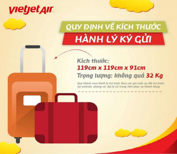 Mua thêm hành lý Vietjet Air