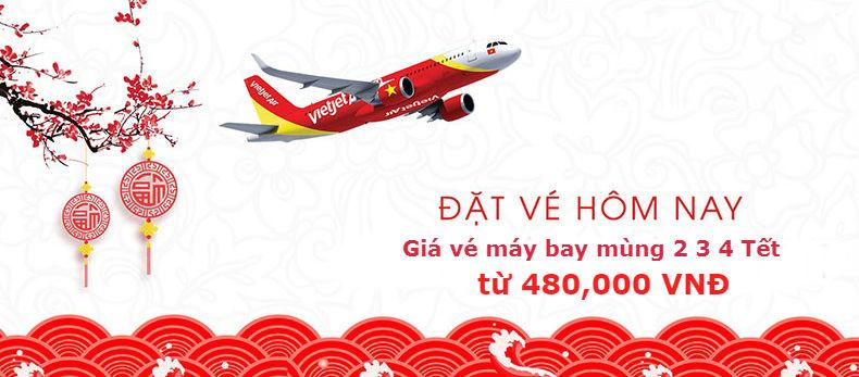 Giá vé máy bay mùng 2 3 4 Tết Vietjet