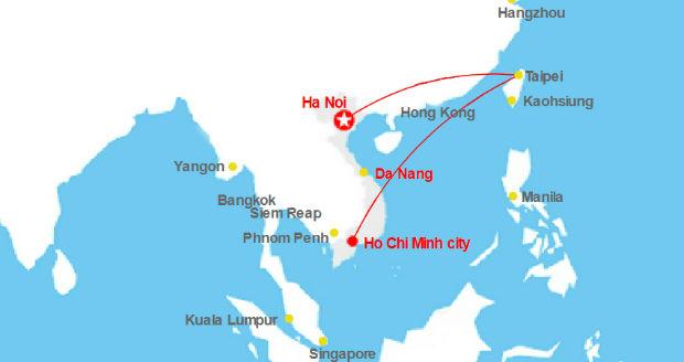 Bay từ Việt Nam sang Đài Bắc mất bao lâu?