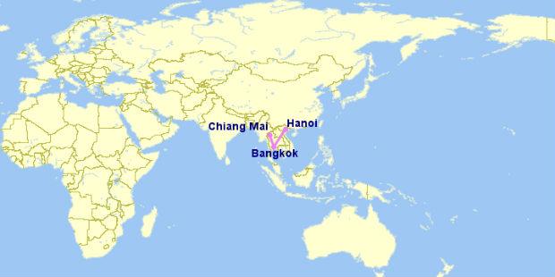 Thời gian bay từ Bangkok về Hà Nội mất bao lâu