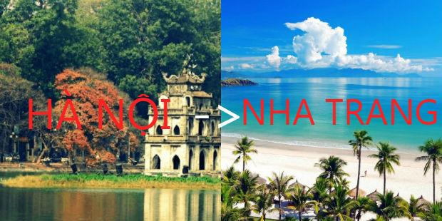 Vé máy bay Hà Nội Nha Trang Vietjet Air