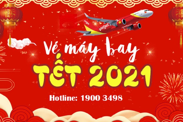 vé máy bay tết 2021 vietjet air